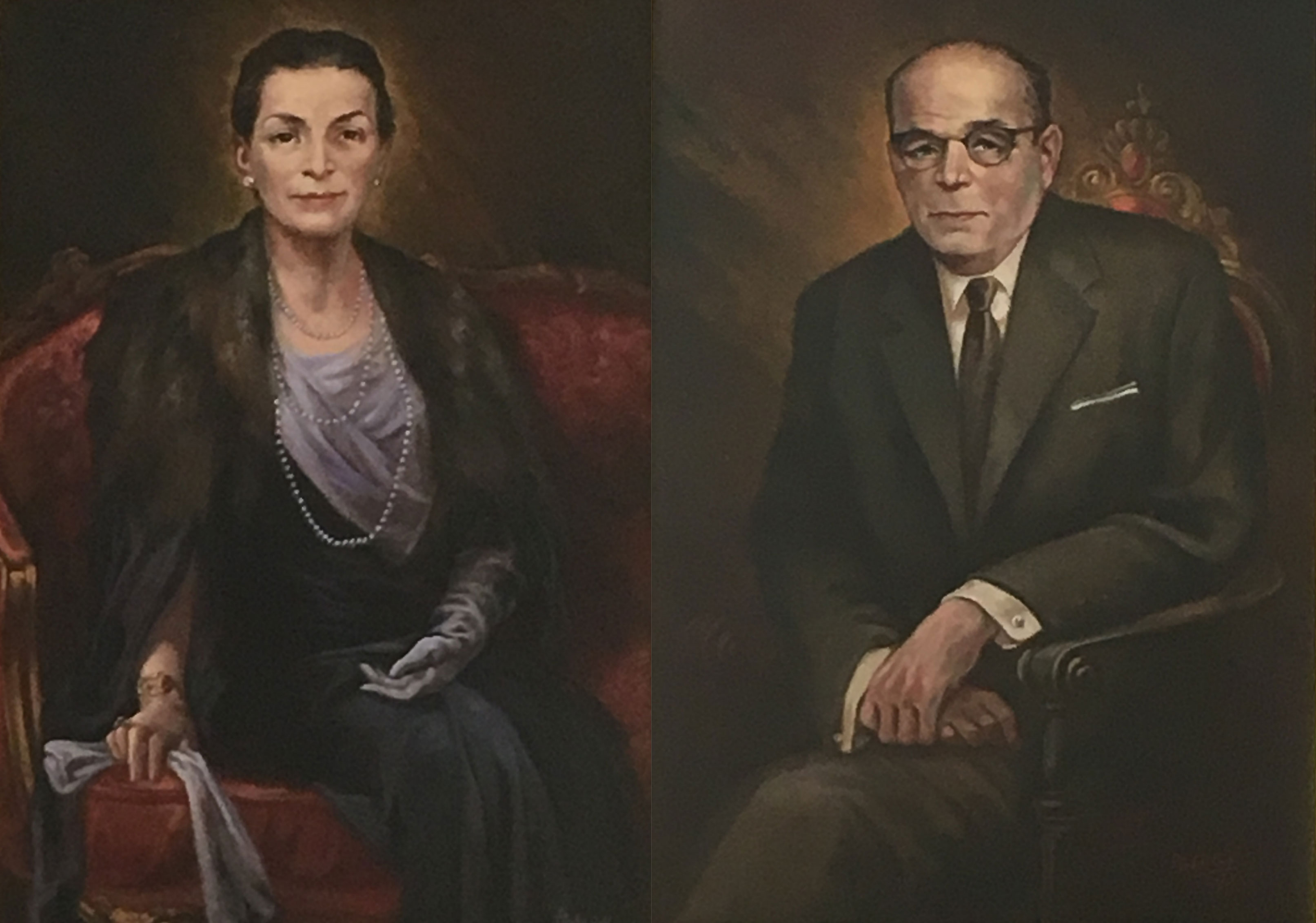 Portraits of the founders Josephine and Anthony Pisani