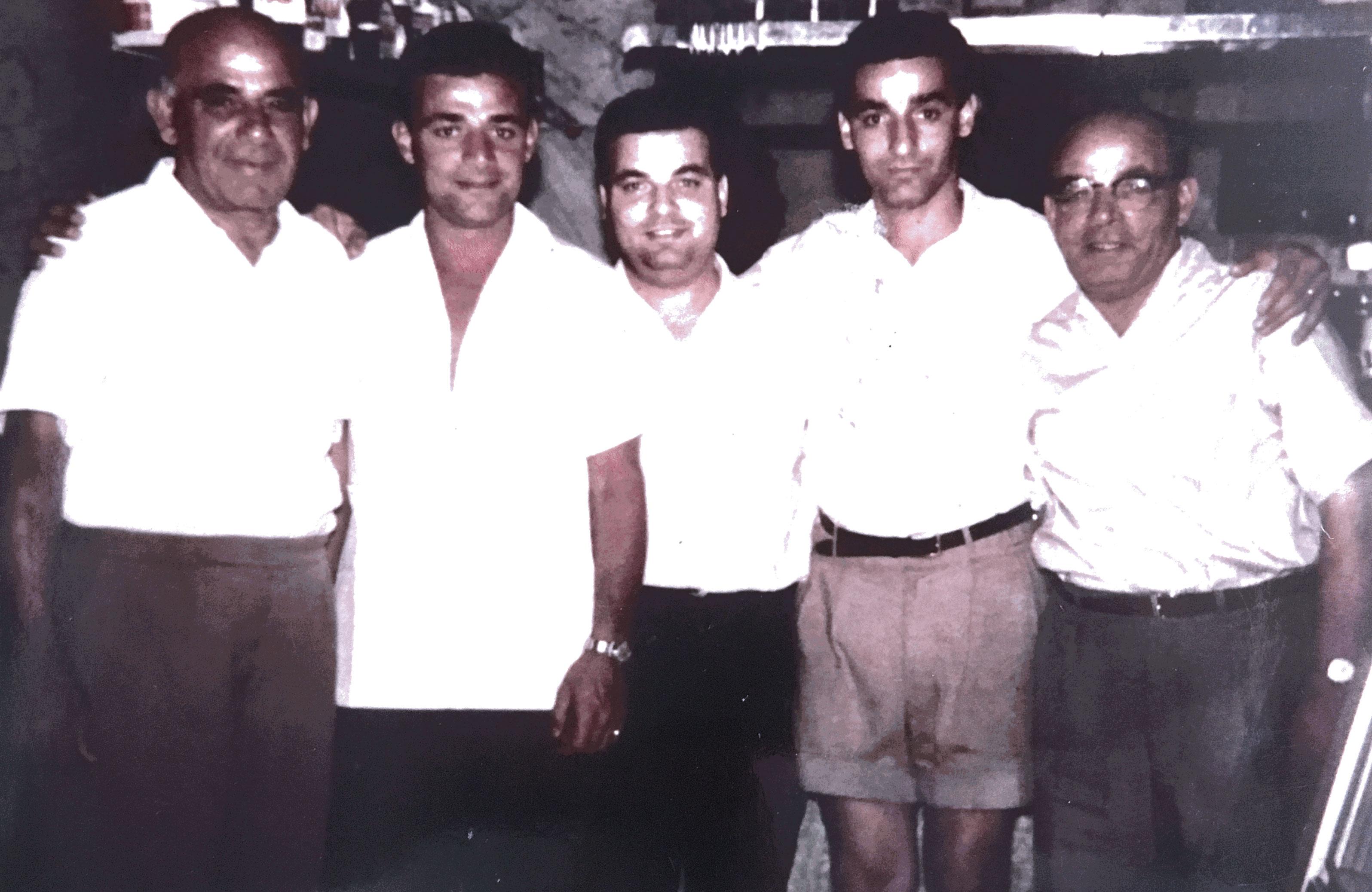 From left: Manuel Pisani, Robert Pisani, John Pisani, Charles Pisani and Anthony Pisani